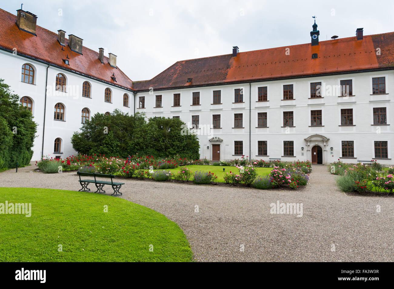 Herreninsel, Chiemsee, Germany, lake, water, boat trip, tourism, travel, island, Schlosshotel Herrenchiemsee - Stock Image