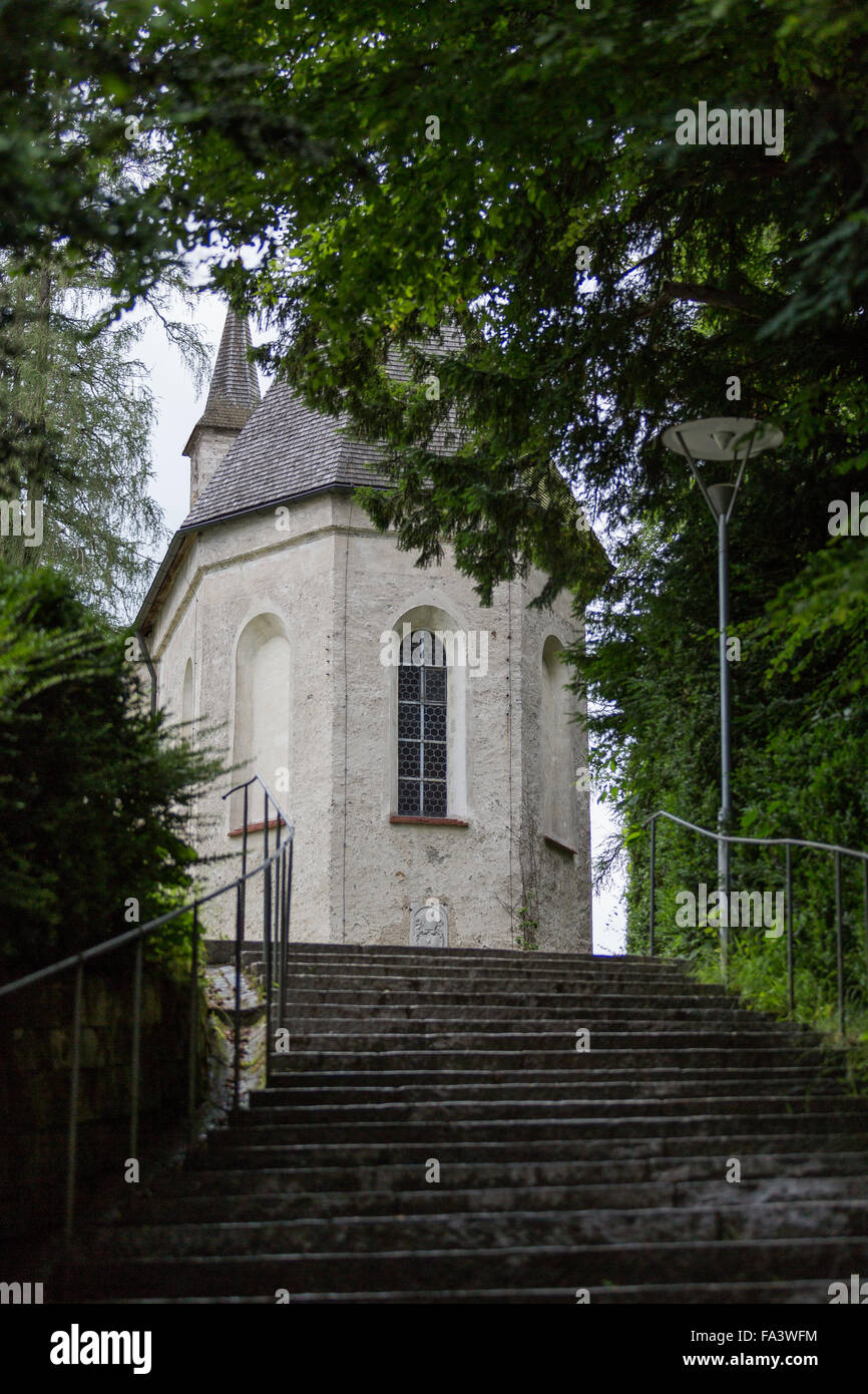 Herreninsel, Chiemsee, Germany, lake, water, boat trip, tourism, travel, island, stairs - Stock Image