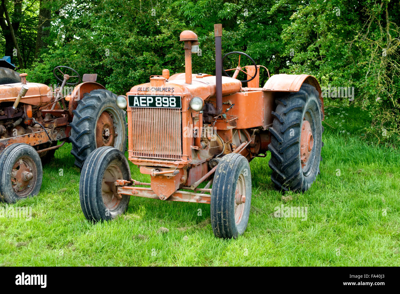 A Vintage Allis Chalmers Tractor At The Vintage Nostalgia Show Stockton Wiltshire United