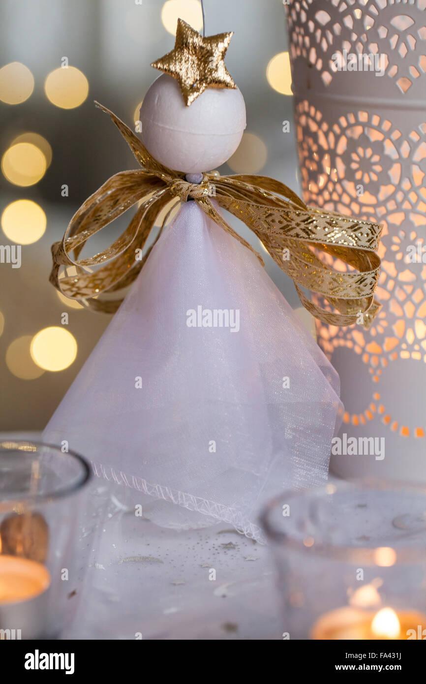 Material organza wire polystyrene balls sticks ribbon - Styroporkugeln dekorieren ...