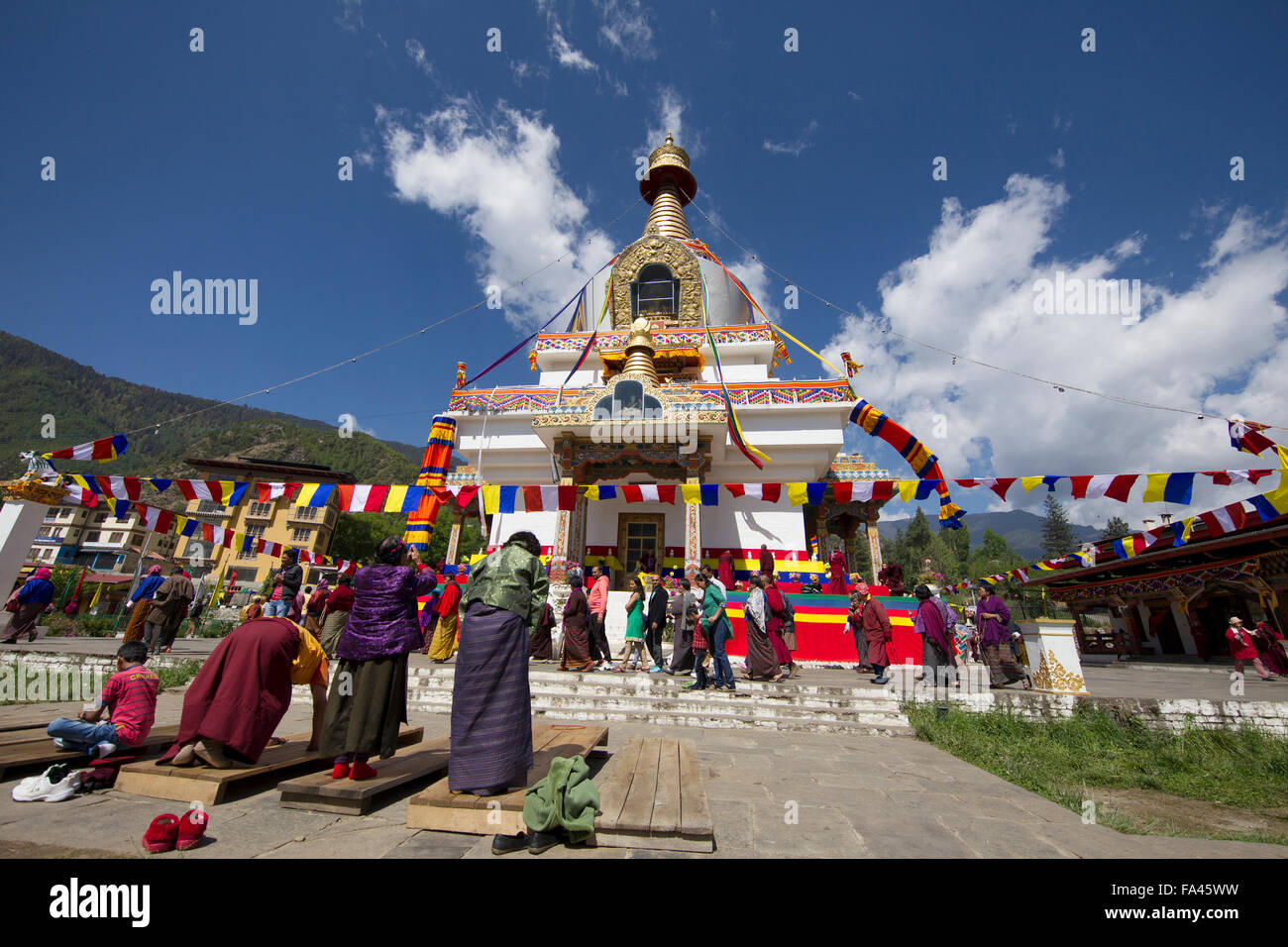 Memorial Chorten in Thimpu, Bhutan - Stock Image