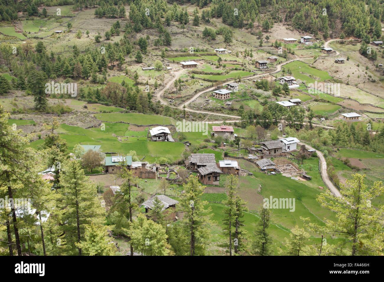 Haa valley in Bhutan - Stock Image