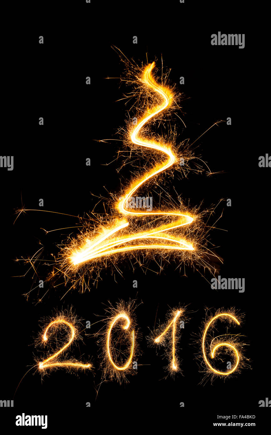 Merry Christmas And Happy New Year 2016 Sparkling Firework