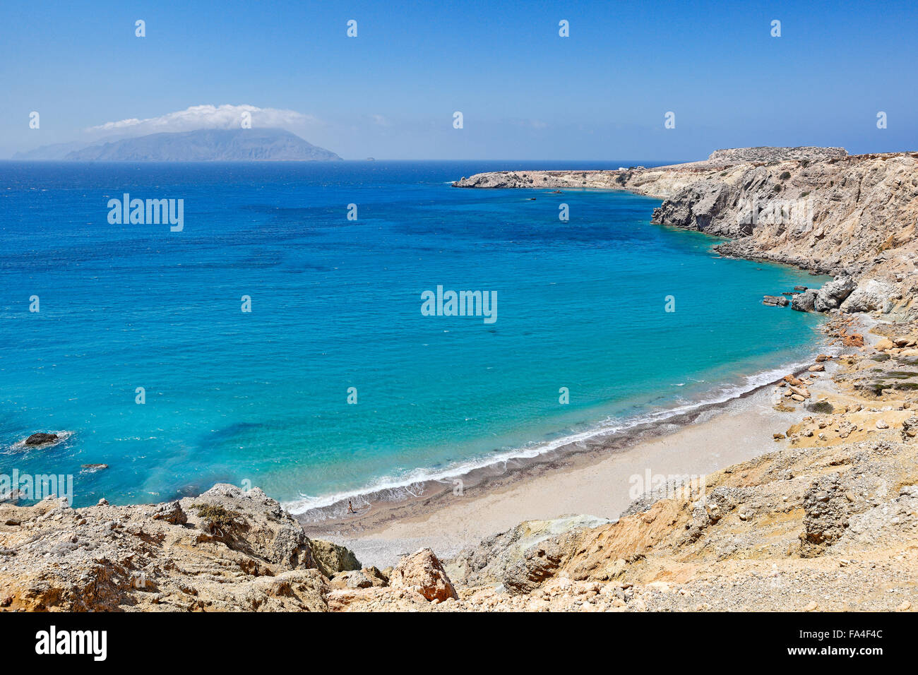 Araki beach in Karpathos, Greece Stock Photo