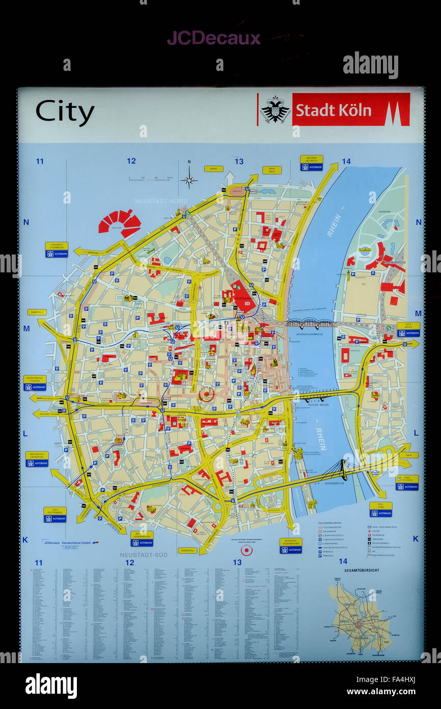 map of cologne - Stock Image