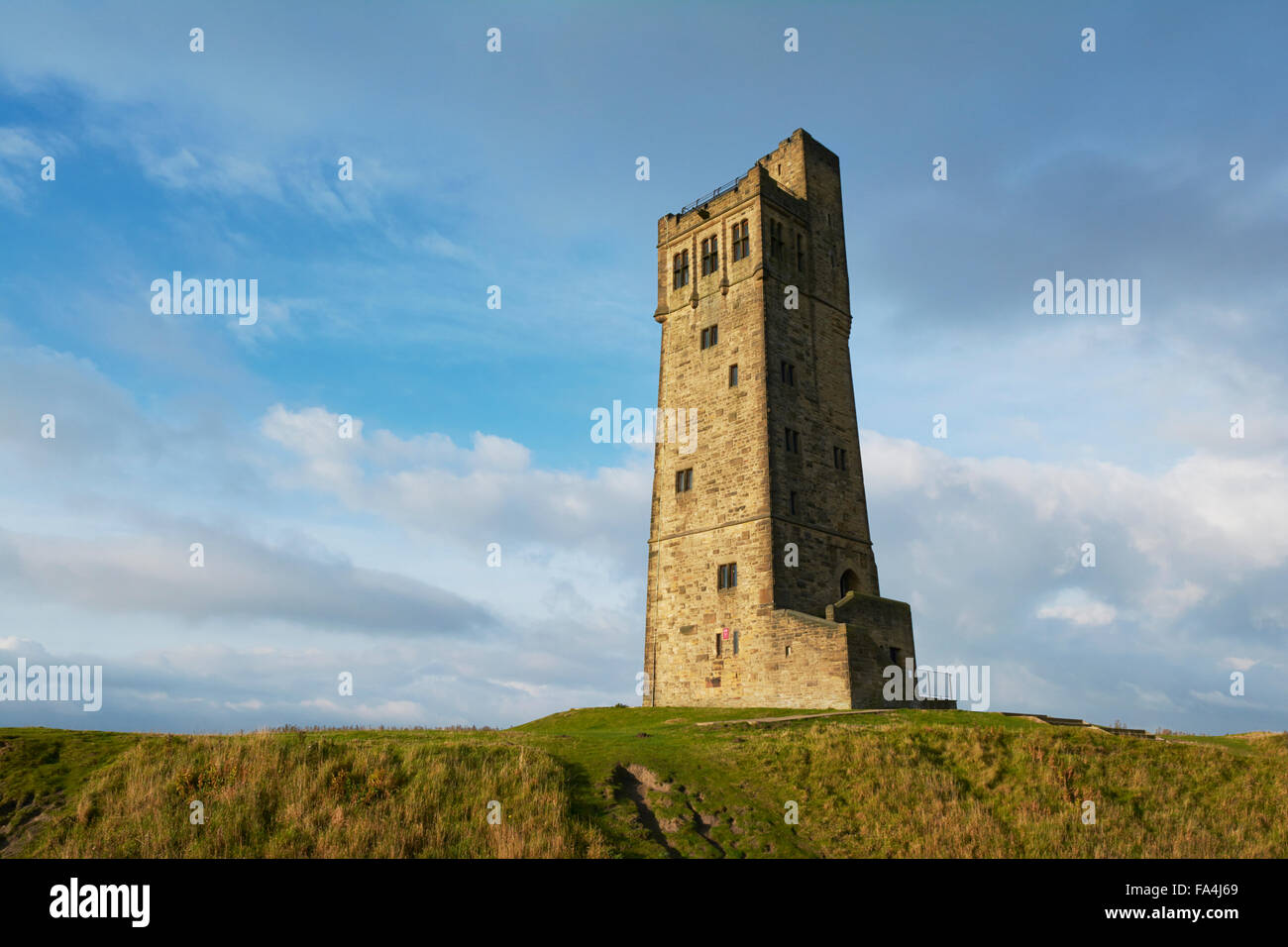 Victoria Tower at Castle Hill Huddersfield, Yorkshire, England, UK - Stock Image