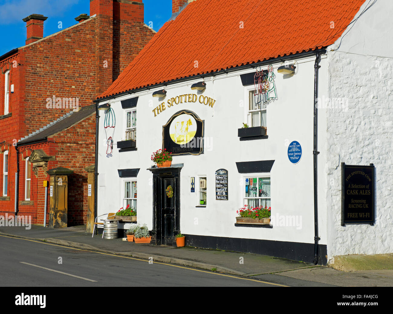 The Spotted Cow, one of Tetley's heritage pubs, Malton, North Yorkshire, England UK - Stock Image