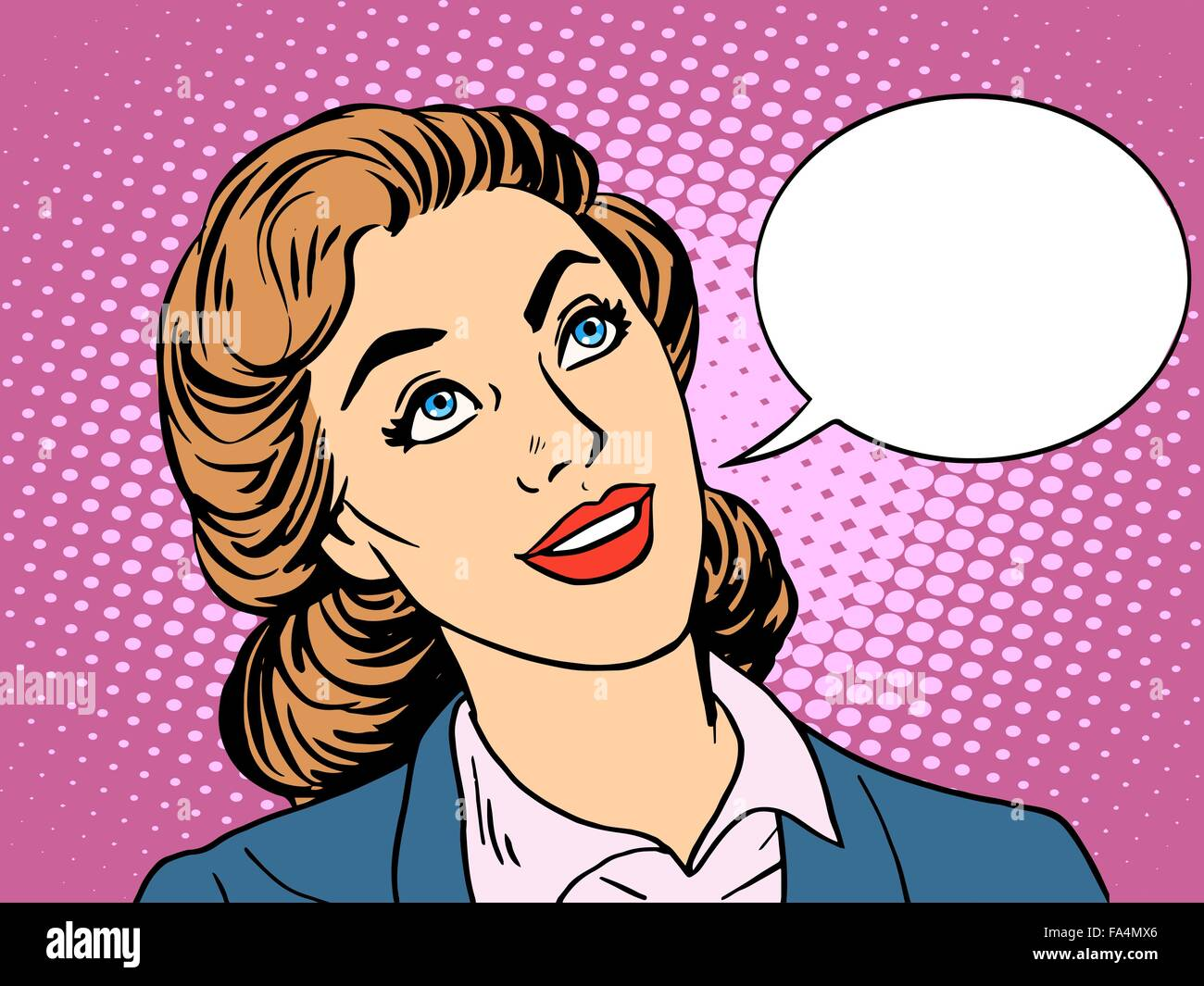 businesswoman interested in communicating - Stock Vector