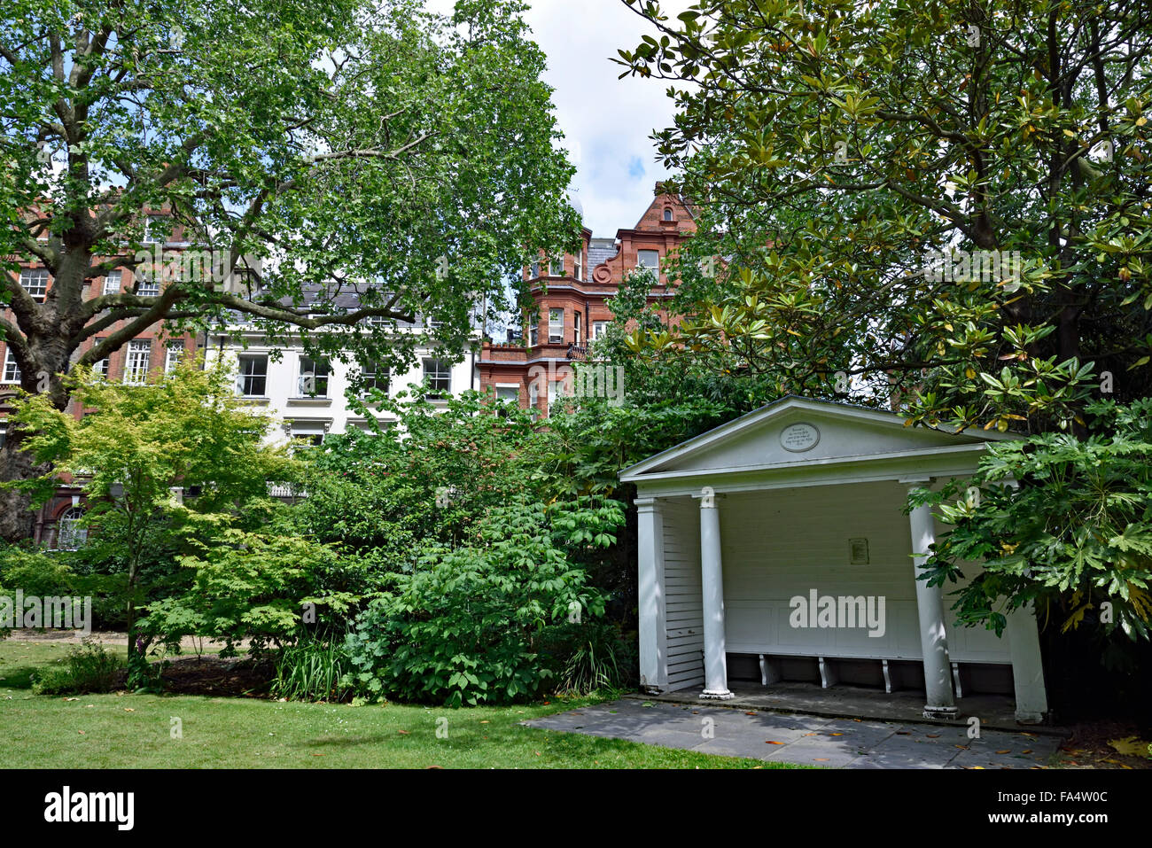 Kensington Square, Royal Borough of Kensington and Chelsea, W8, London England Britain UK - Stock Image