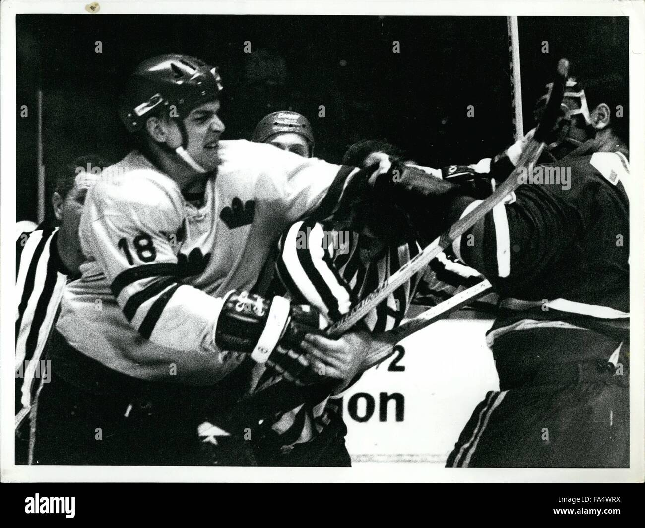 1970 - Ice Hockey world championship stockholm 1970 USSR Sweden: A close up picture of NR 18 Bjorn Palmqvist, the Stock Photo