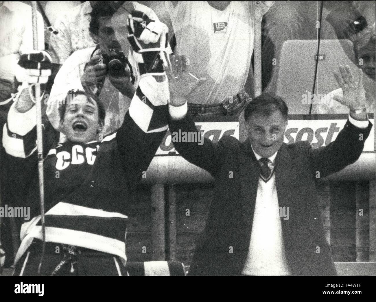 1970 - Icehockey-Worldchampionships In Switzerland: The Icehockey-Worldchampionships took place in Bern/Switzerland Stock Photo