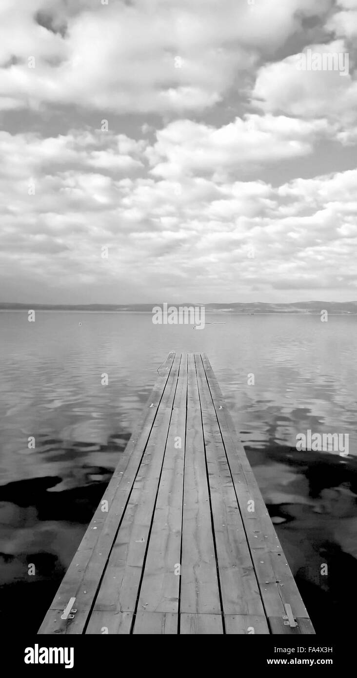 Bolesena Lake in the early afternoon Stock Photo