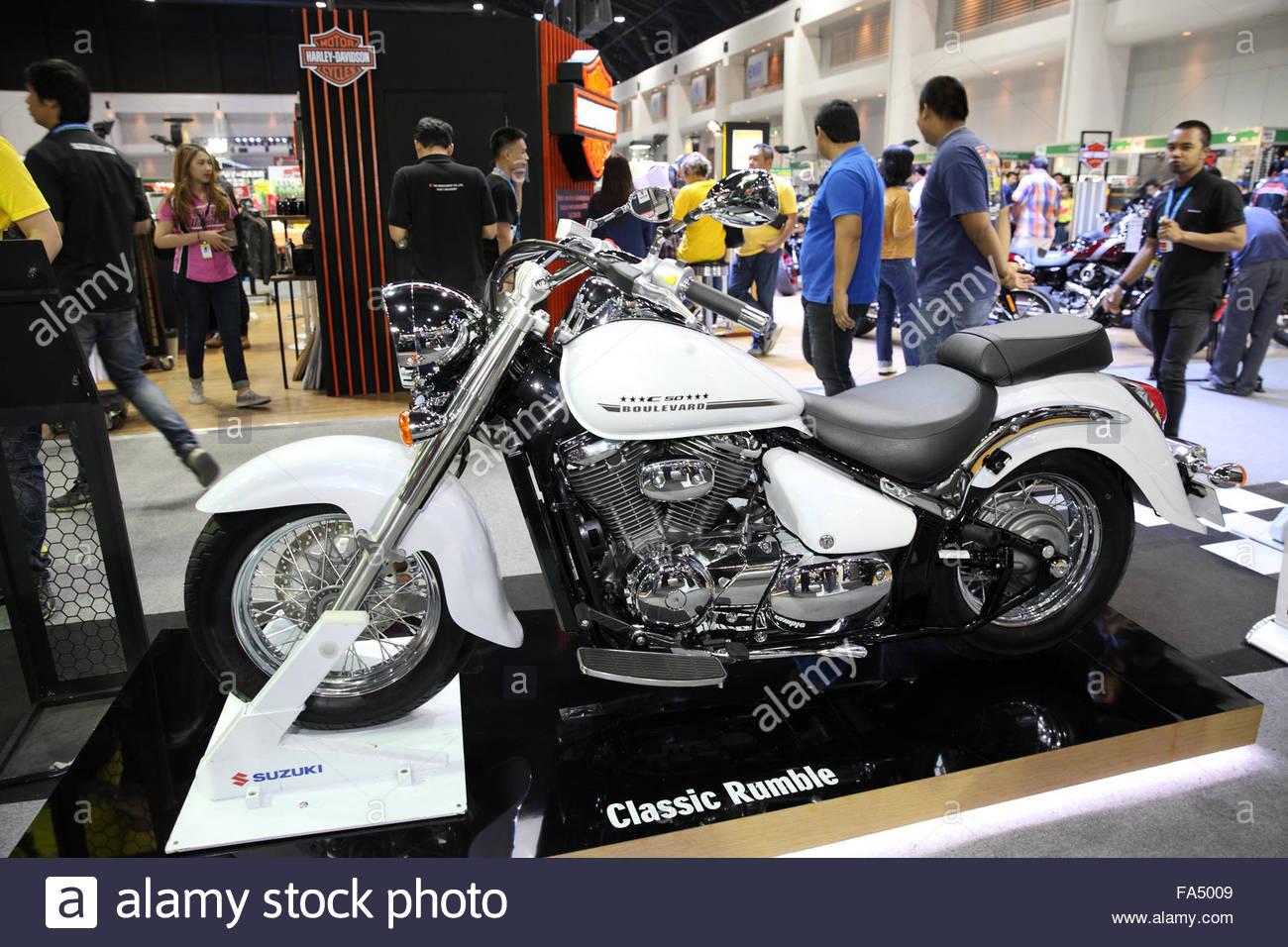 BANGKOK - December 11 : Suzuki Classic Rumble motorcycle on display at The Motor Expo 2015 on December 11, 2015 Stock Photo