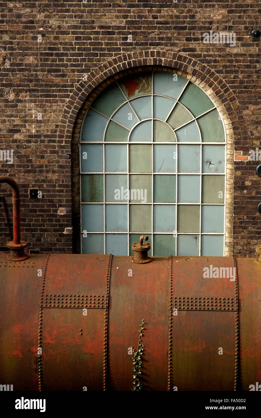 Detail of one of the buildings at Enginuity, Coalbrookdale, Shropshire, UK - Stock Image
