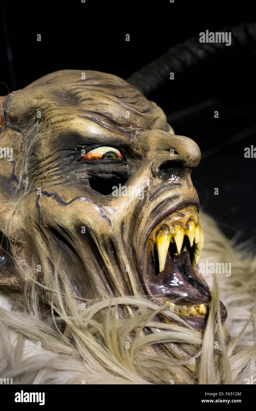 Wooden Carved Krampus Mask Stock Photo 92309020 Alamy