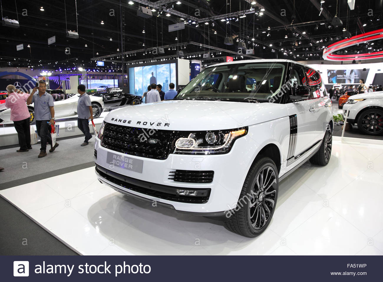 bangkok - december 11: range rover car on display at the motor expo