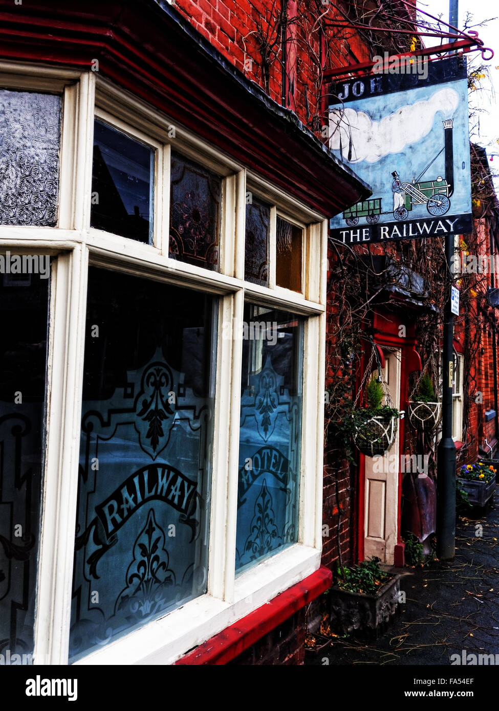 The Railway Inn at Bromyard is a town in Herefordshire, England - Stock Image