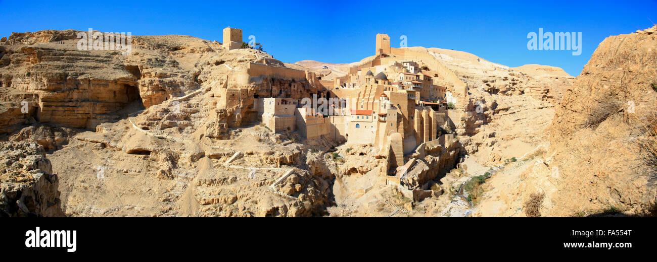 Holy Lavra of Saint Sabbas the Sanctified monastery, Palestine Stock Photo