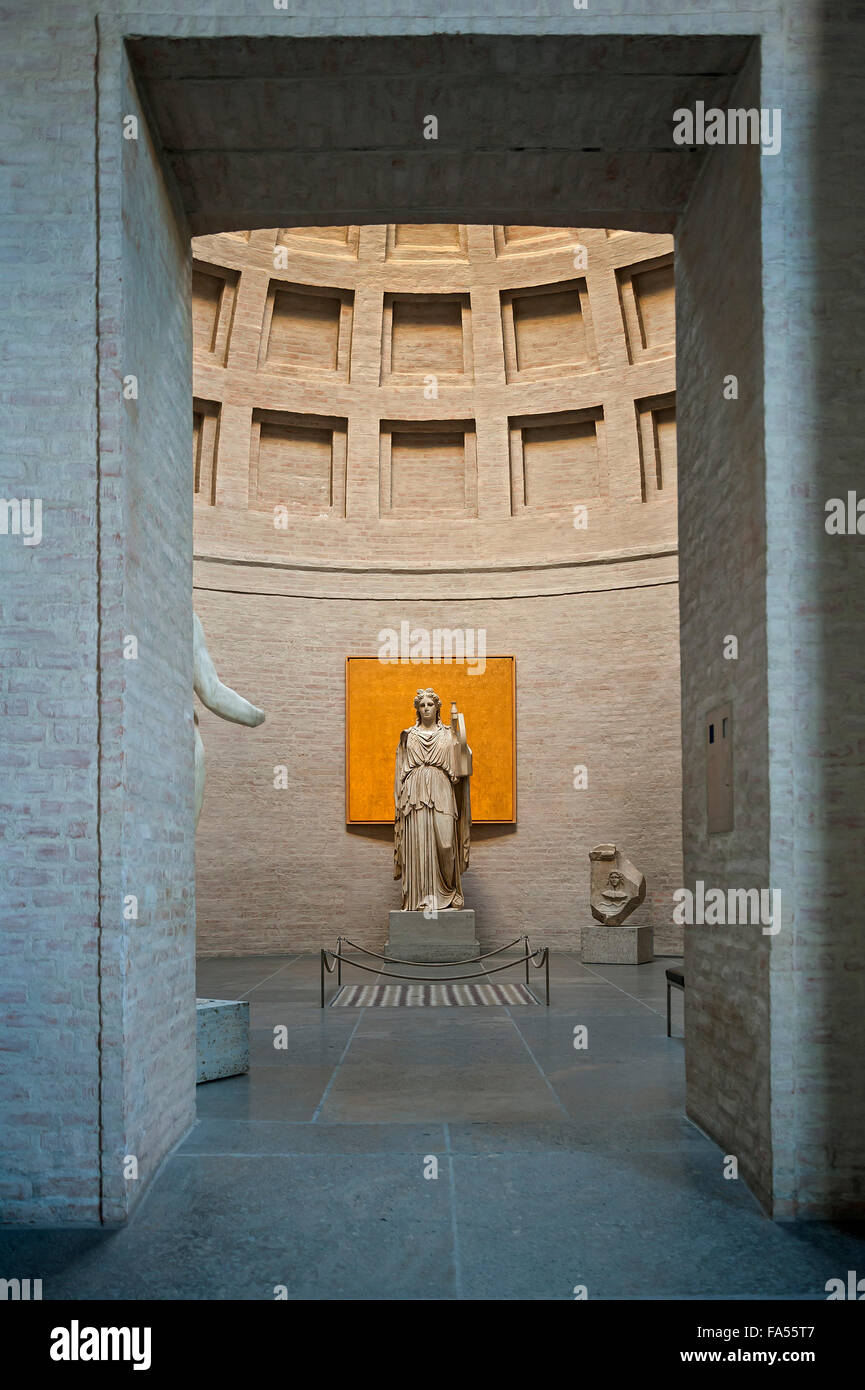 Apollo Barberini, God as lyrist with cithara, Glyptothek, Munich, Bavaria, Germany - Stock Image
