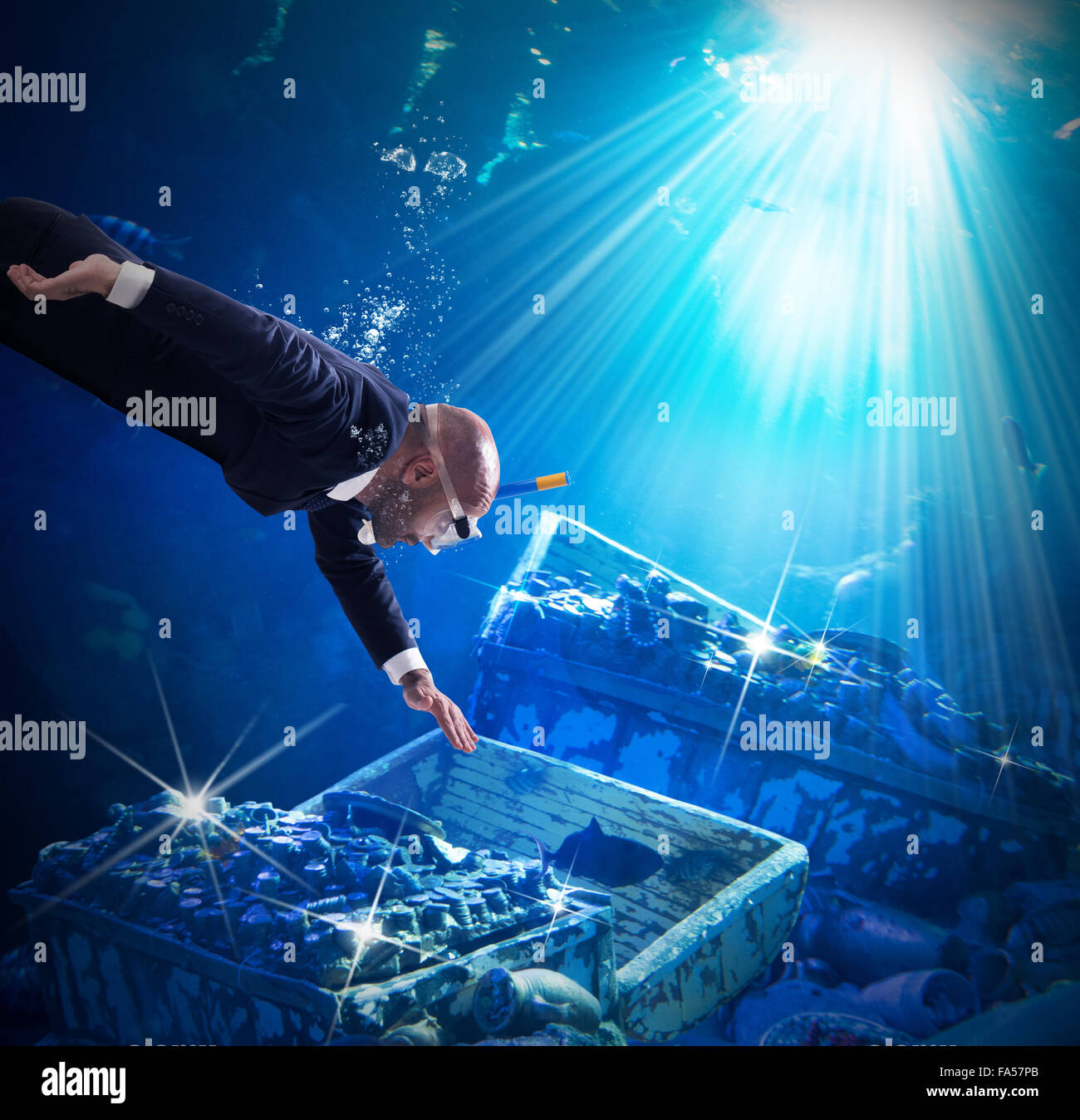 Find a treasure - Stock Image