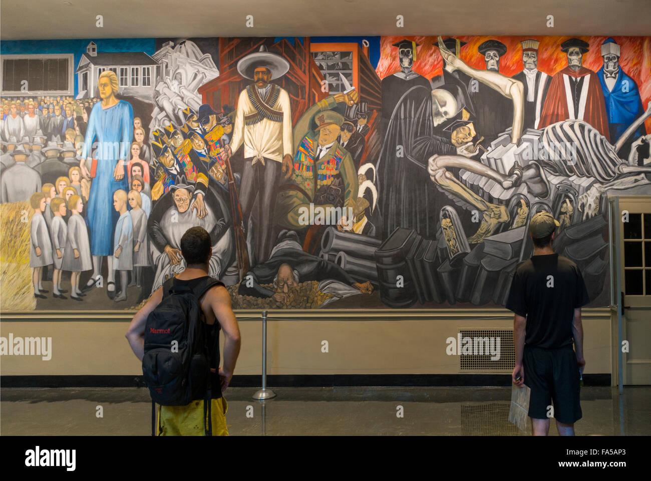 Orozco mural Dartmouth College Hanover NH Stock Photo