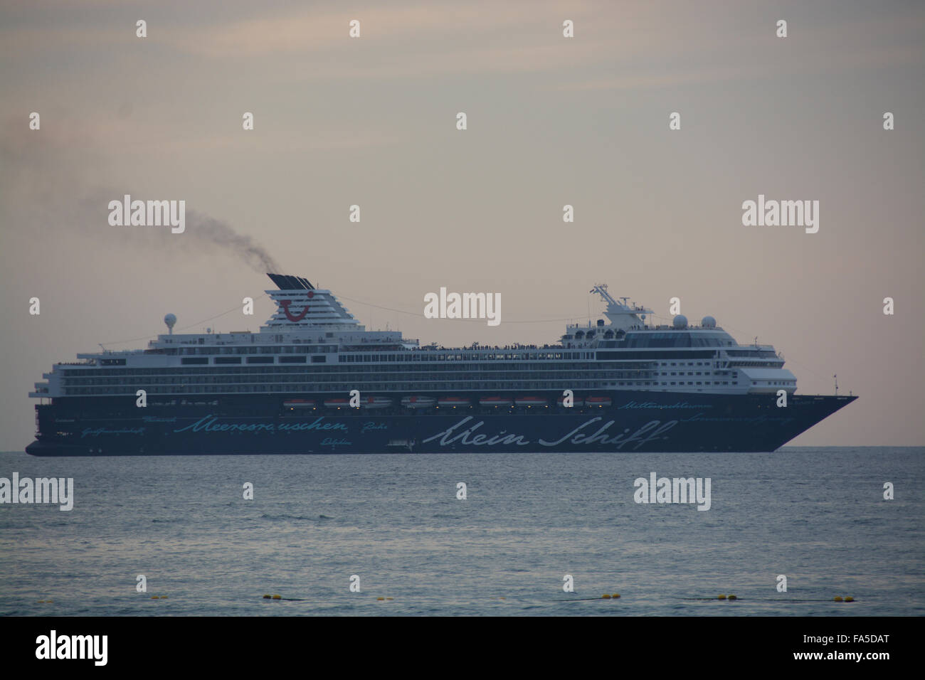 Mein Schiff cruise boat at Patong Beach, Thailand - Stock Image
