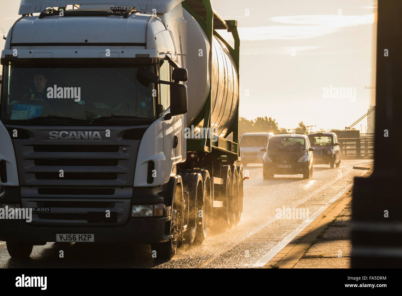 Tanker lorry, London, England, U.K. - Stock Image