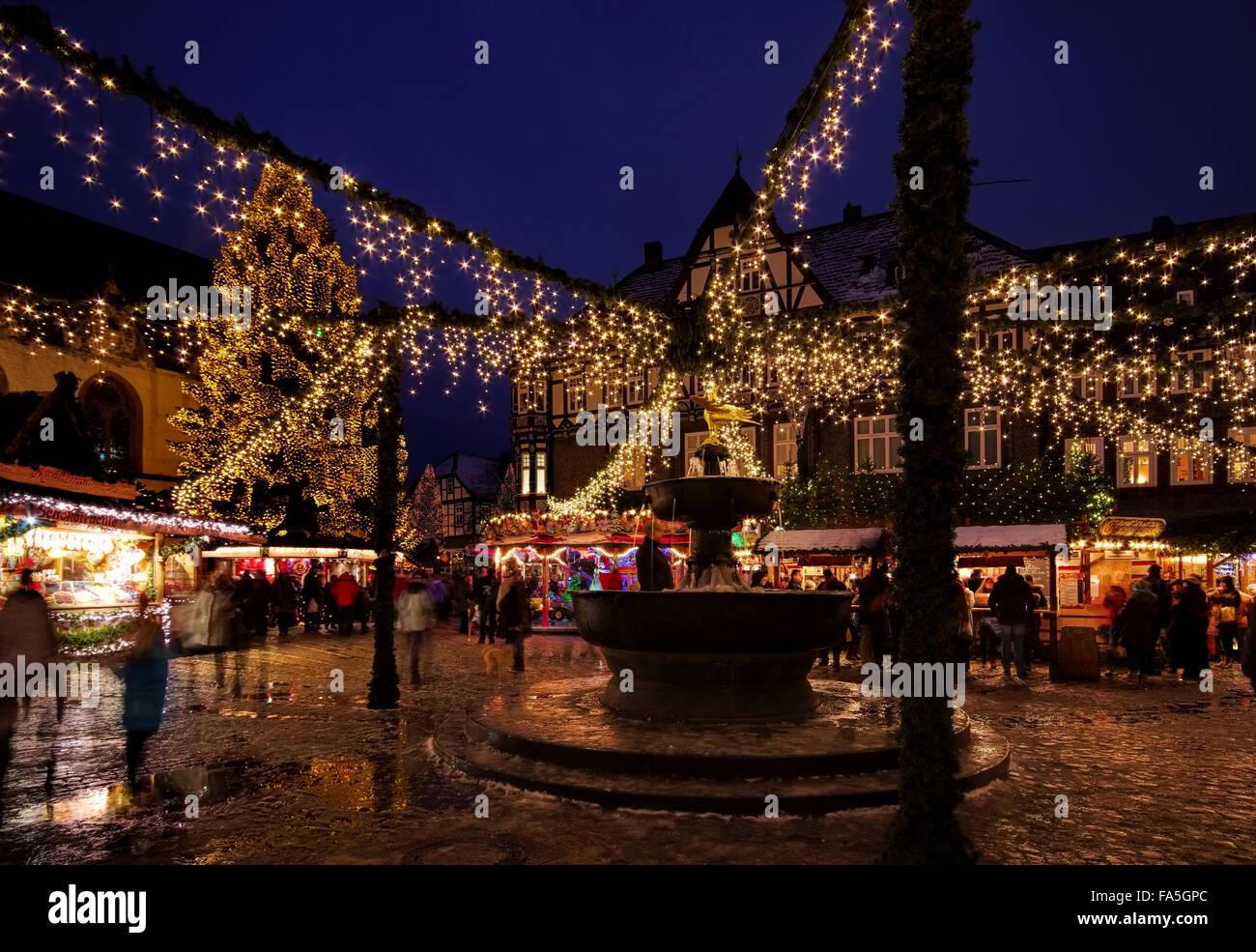 Goslar Weihnachtsmarkt.Goslar Weihnachtsmarkt Goslar Christmas Market 01 Stock