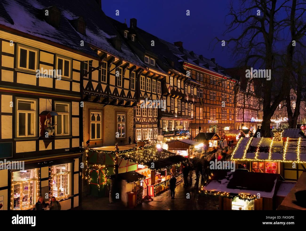 Goslar Weihnachtsmarkt.Goslar Weihnachtsmarkt Goslar Christmas Market 02 Stock
