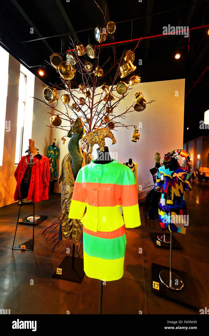 Fantasic fashion at the Automovilistico De Malaga - Stock Image
