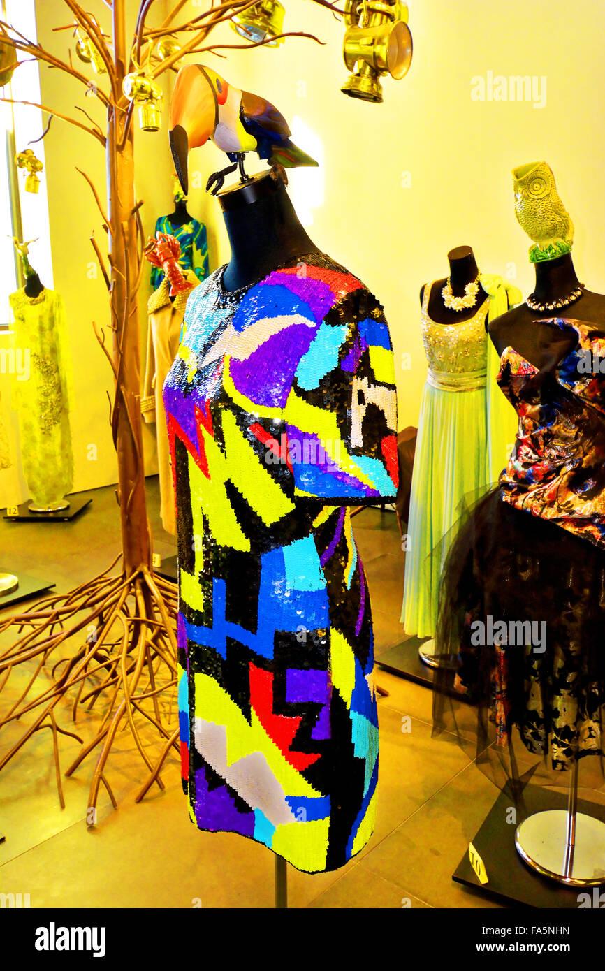 Fantasic fashion at the Automovilistico De Malaga Spain - Stock Image