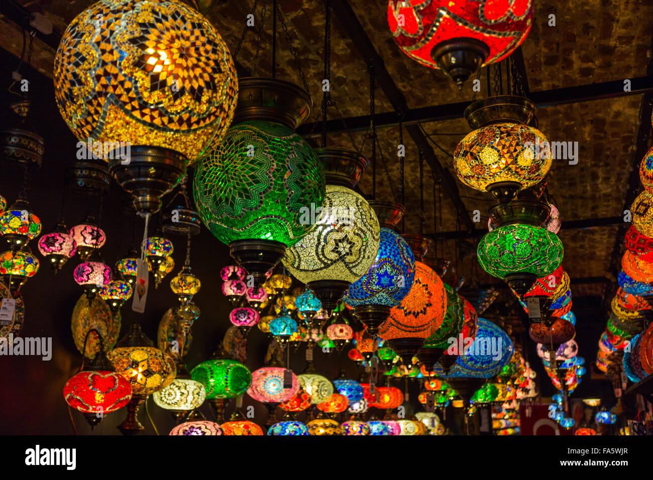 Turkish Lamps In Camden Market, Camden Town, London Borough Of Camden,  London,