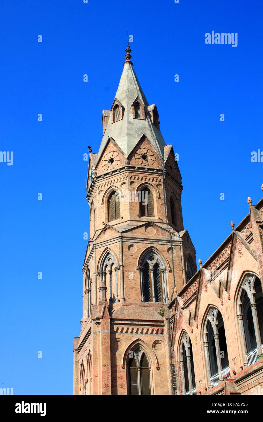 Tower of Government College University, Lahore, Pakistan - Stock Image