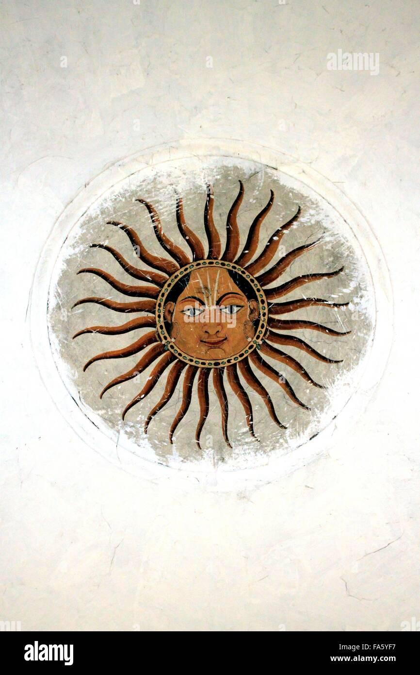 Detail of Decoration from Samadhi Shrine of Ranjit Singh, Lahore, Pakistan - Stock Image