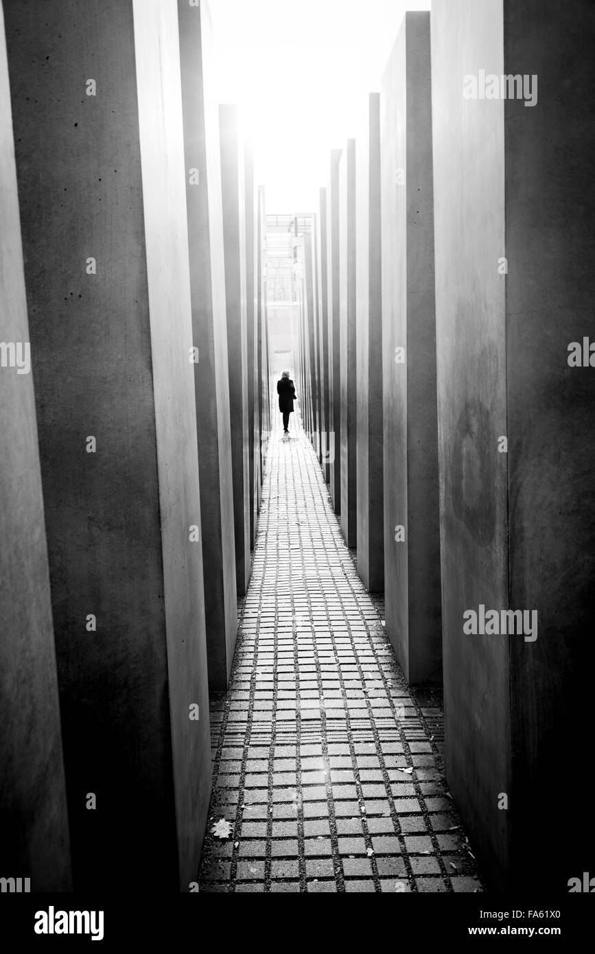 Memorial to the murdered Jews of Europe Berlin Holocaust memorial for Germany - Stock Image