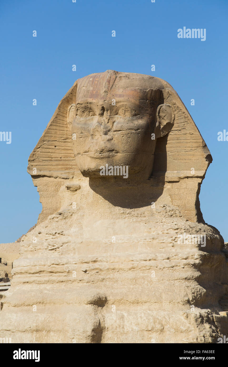 Sphinx, The Giza Pyramids, Giza, Egypt - Stock Image
