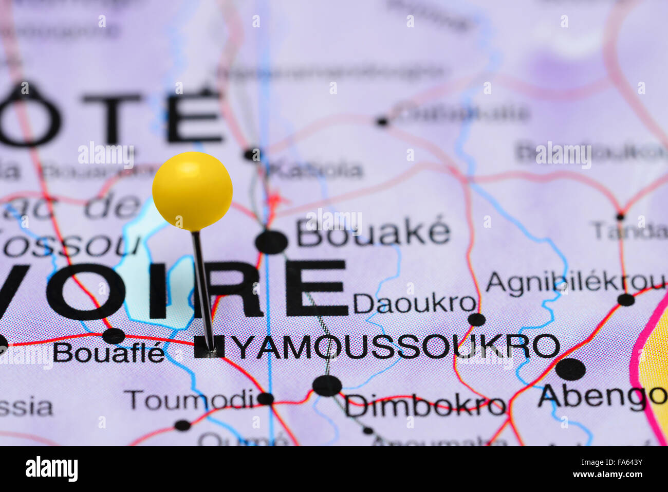 Picture of: Yamoussoukro Pinned On A Map Of Africa Stock Photo Alamy