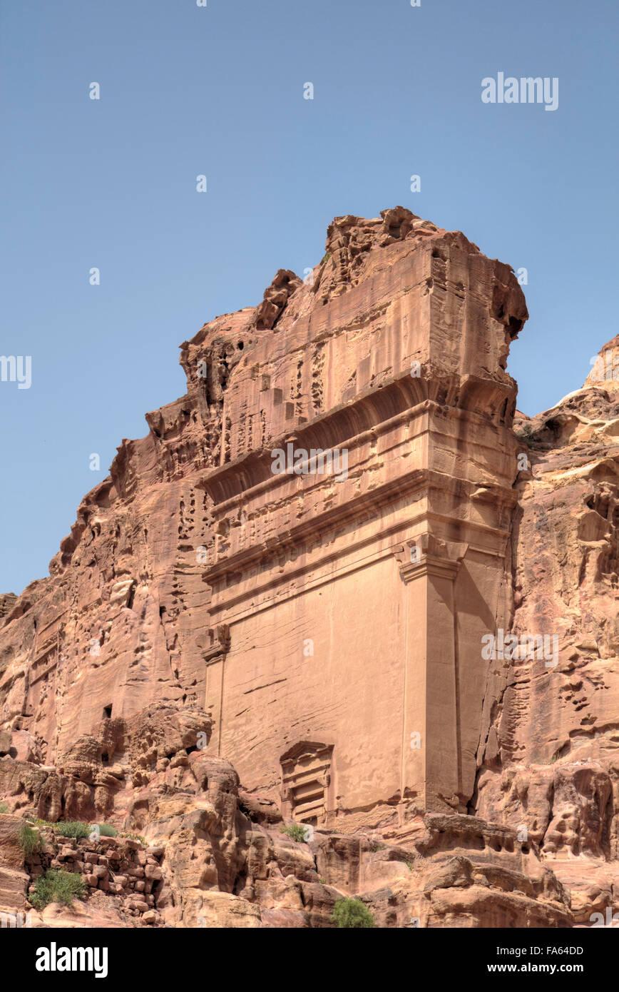 Uneishu Tomb, Petra, Jordan Stock Photo