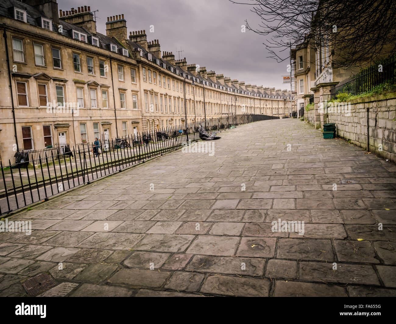 Street Scene, City of Bath, Somerset, - Stock Image