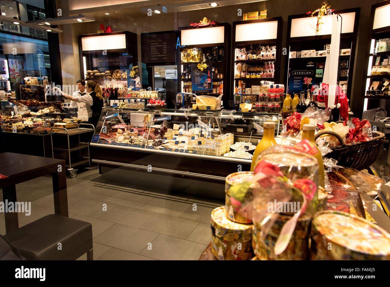 Deli at Mall of Berlin Germany - Stock Image