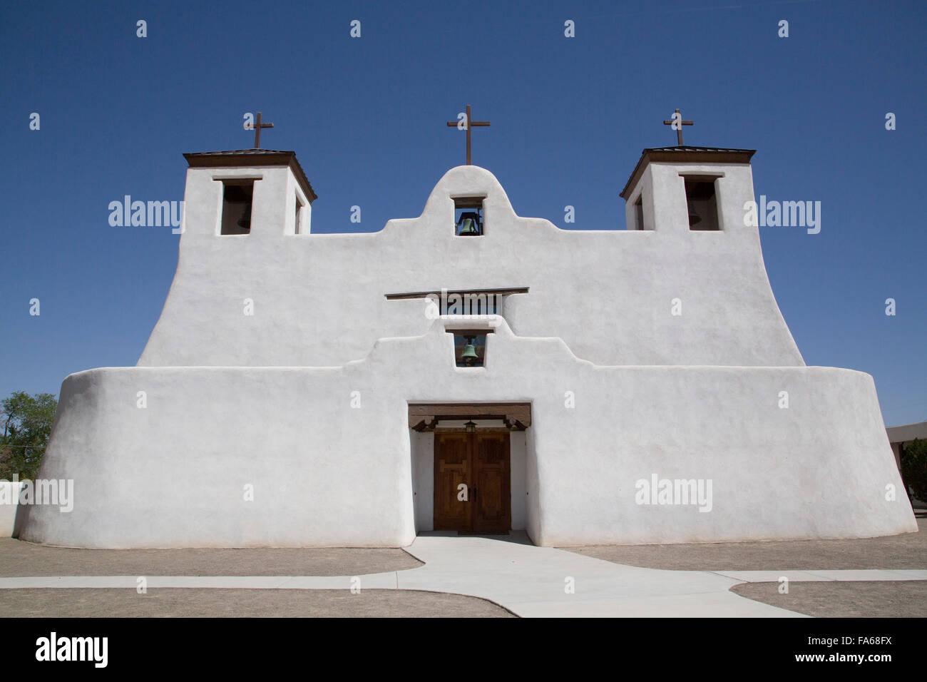Isleta Pueblo, Saint Augustine Mission, originally built in 1612, New Mexico, USA Stock Photo