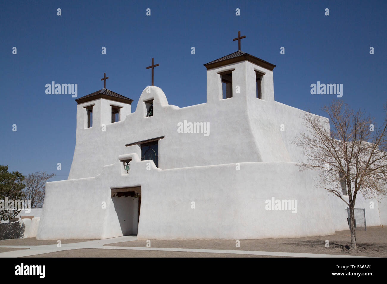 Isleta Pueblo, Saint Augustine Mission, originally built in 1612, New Mexico, USA - Stock Image