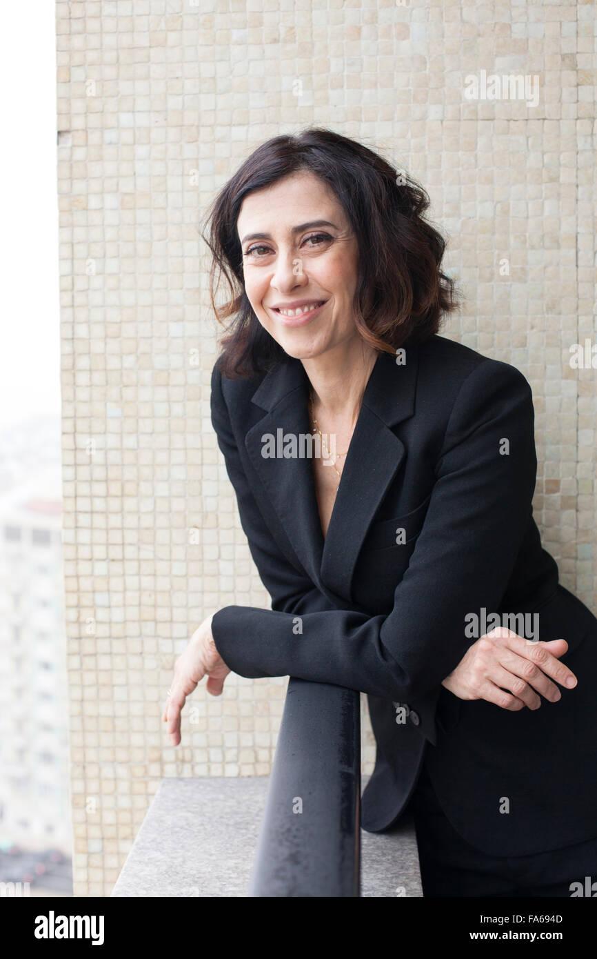 Brazilian actress Fernanda Torres during an interview. - Stock Image