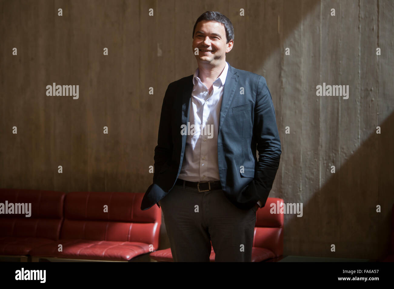 Thomas Piketty, French economist who works on wealth and income inequality, on a visit to Portugal. - Stock Image