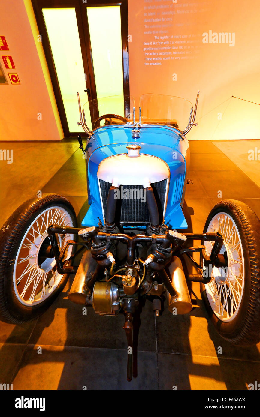 Malaga Spain Automovilistico De Malaga  Morgan 1928 3 wheeler - Stock Image