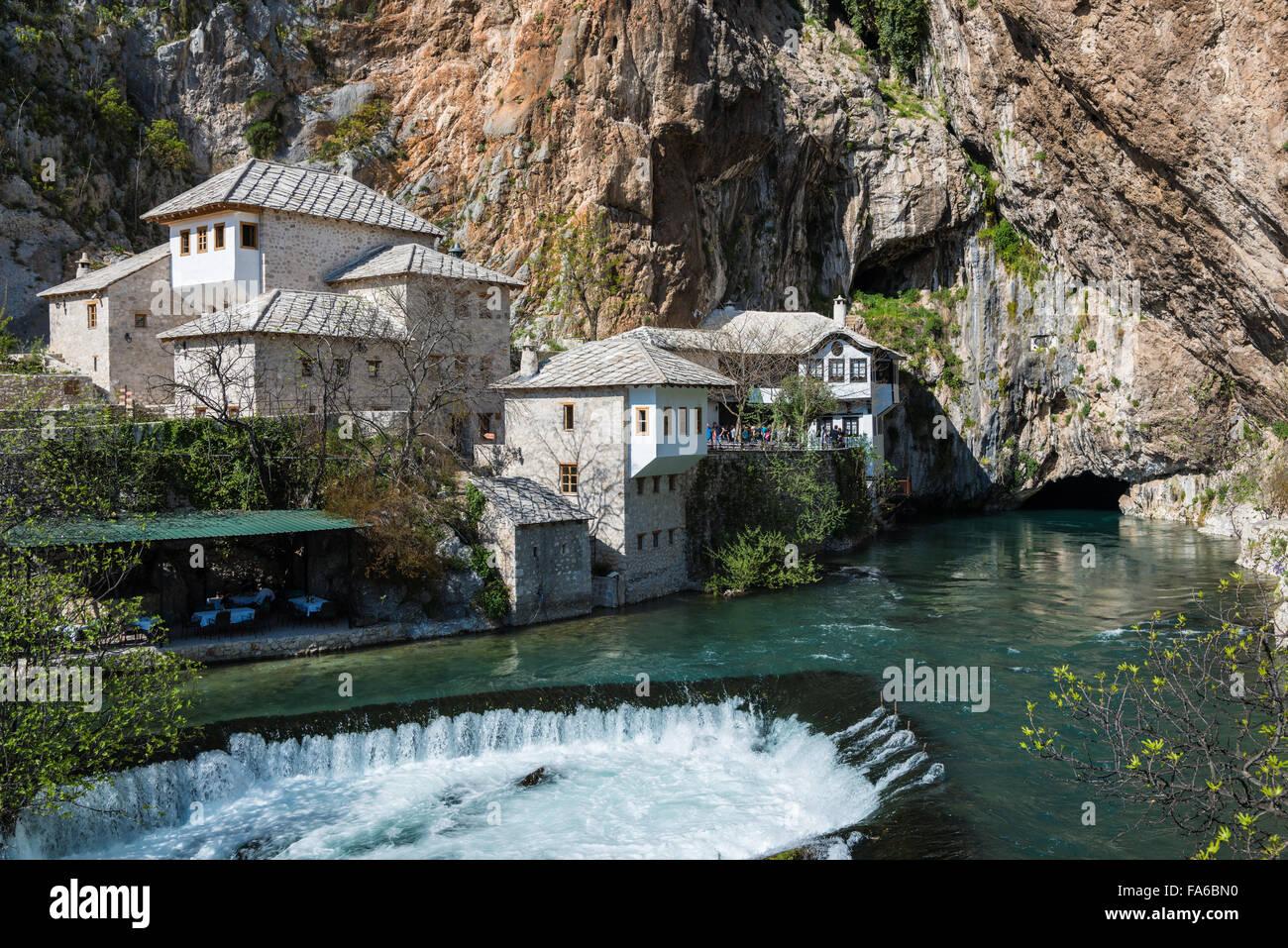 The Blagaj Tekke, a historical Dervish monastery, in Blagaj, Bosnia and Herzegovina. - Stock Image