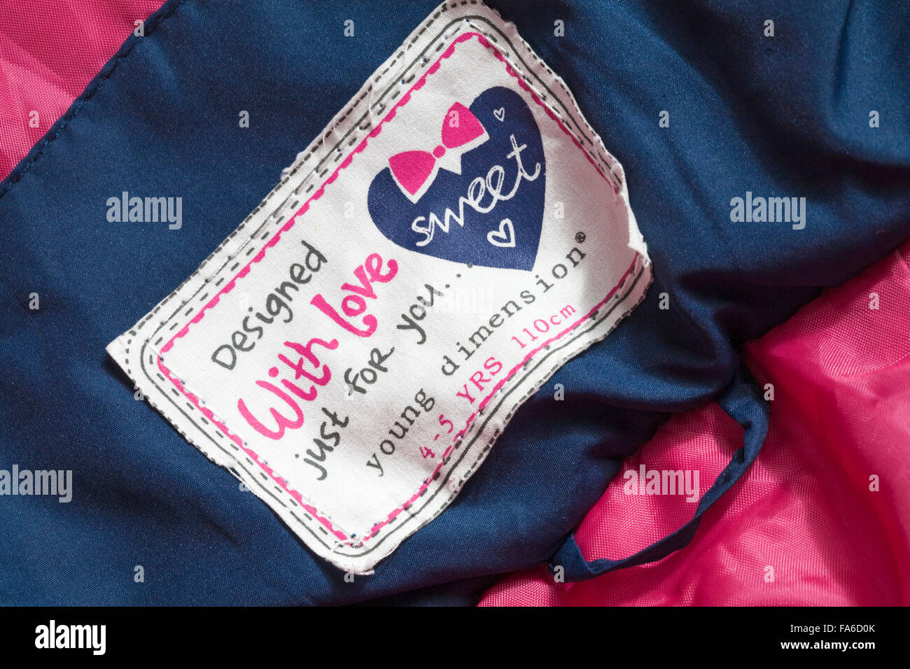 Designed with love just for you label in young dimension girls coat ... 216cd6b6c3