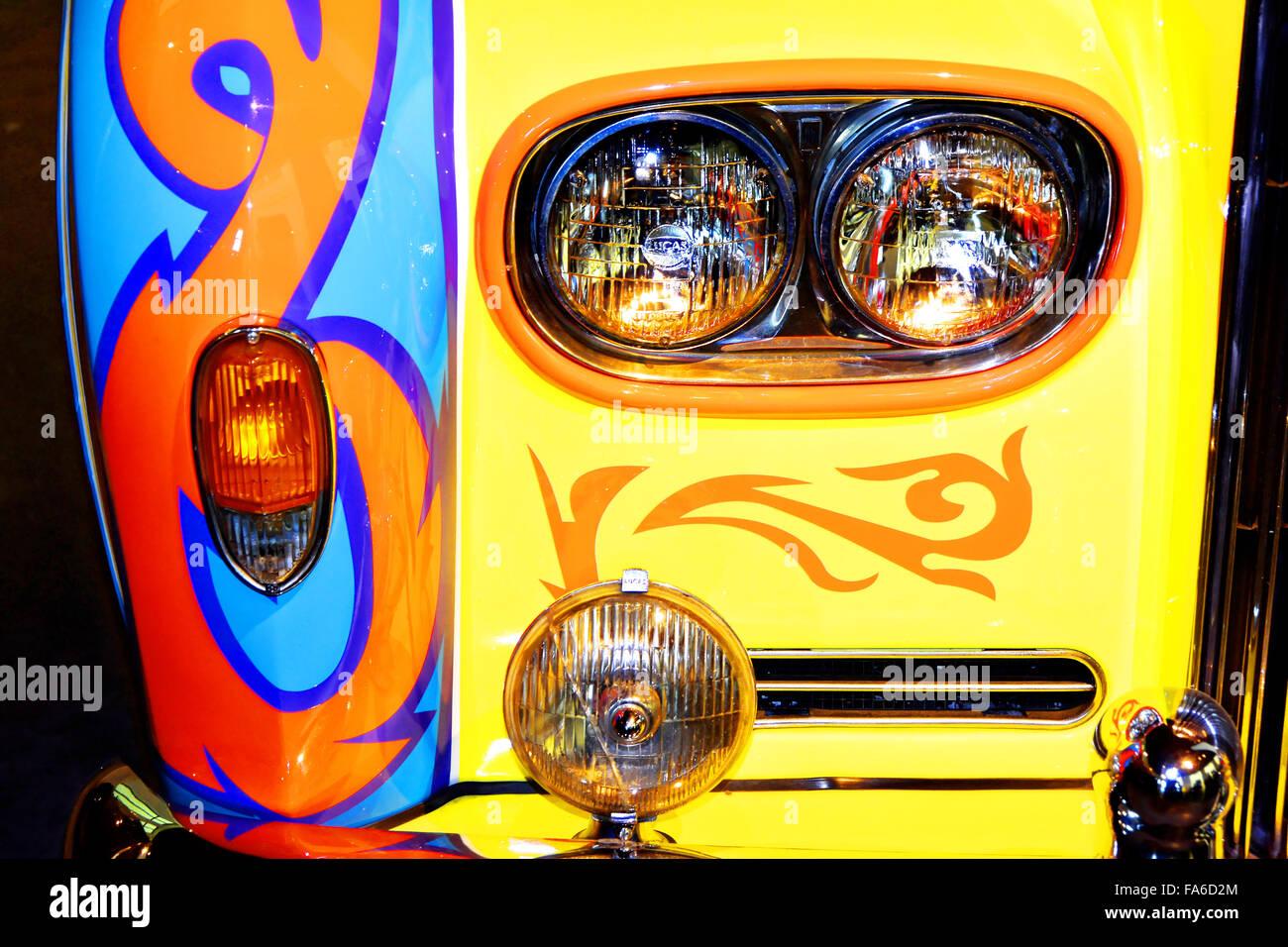 Malaga Spain Automovilistico De Malaga Coloured Rolls Royce - Stock Image
