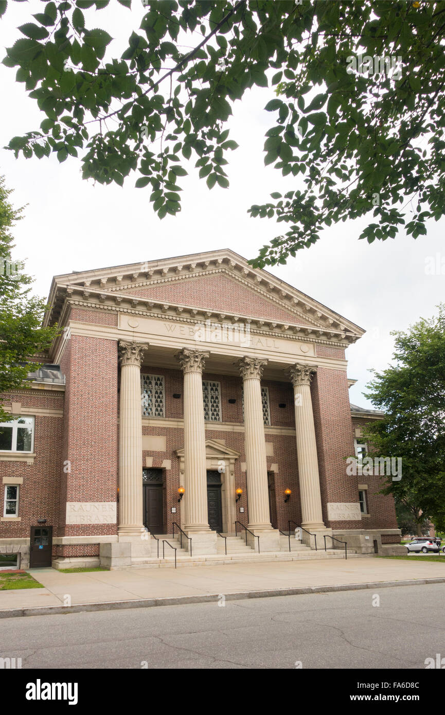Rauner special collections library Dartmouth College New Hampshire - Stock Image
