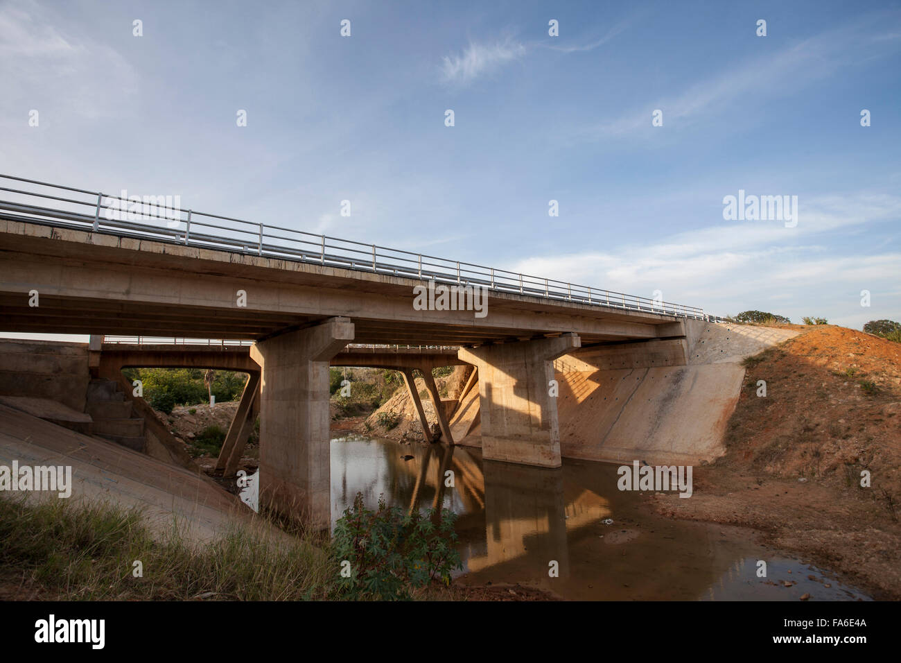 The newly-constructed Tanga – Horohoro trunk road stretches through NE Tanzania. - Stock Image
